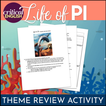 Life of Pi - Theme Development through Textual Evidence Group Activity