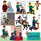 Saint Francis of Assisi Clip Art Set