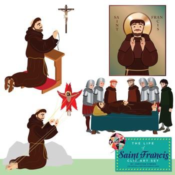 Saint Francis of Assisi Clip Art Set