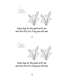 Life of a Frog Read and Color Booklet