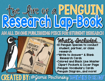 Life of a Penguin Research with Student Lap Books!