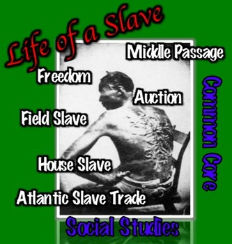 Slavery: A Documented Journey from Captivity to Freedom Common Core Ready