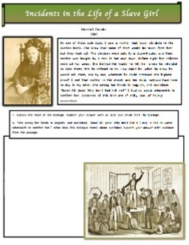 Slavery: Auction Block (5 of 9) Common Core & Constructed Response
