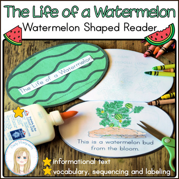 Life of a Watermelon Emergent Reader, Vocabulary and Seque