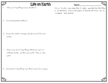 Life on Earth Leveled Texts for Differentiated Reading