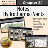 Notes: Hydrothermal Vents - Great for AICE Marine or any Marine course