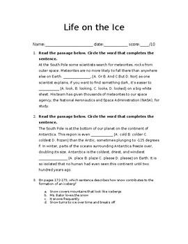 Life on the Ice: FSA Test Prep