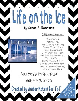 Life on the Ice Supplemental Activities 3rd Grade Journeys