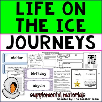 Life on the Ice Journeys 3rd Grade Unit 4 Lesson 20 Activities & Printables