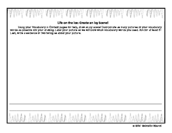 Life on the Ice Vocabulary Activity Printable