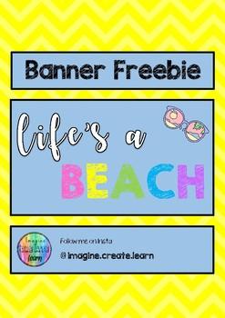 Life's a Beach - Banner Freebie