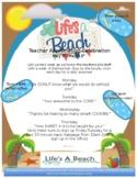 Life's a Beach Teacher Appreciation Flyer (editable)