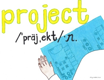 Life's a Project Cartoon--Printable Montessori Homograph Card