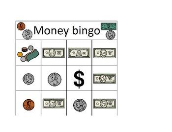 Life skills Money bingo