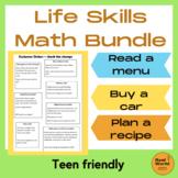 Life skills math mini bundle - for teen and adult learners