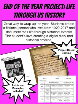 Life through US History: End of the Year Project