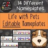 Nameplates EDITABLE - Life with Pets Decor