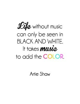 """""""Life without music"""" Quote"""