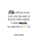 """Life without music"" Quote"