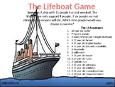 Lifeboat Negotiation Game PowerPoint- Middle and High School