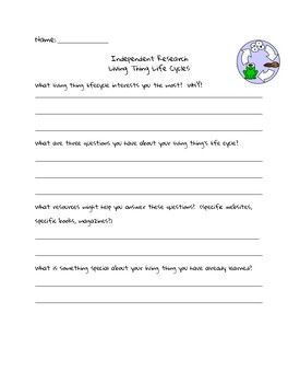 Lifecycle Independent Research Form
