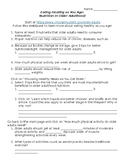 Lifecycle Nutrition: Older Adult Nutrition Webquest
