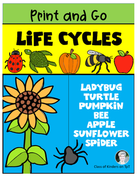 Science Life Cycles {Print and Go} for Kindergarten and Fi