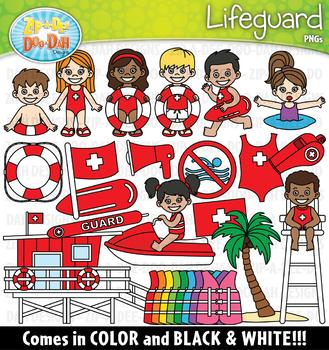 Lifeguard Community Helpers Clipart {Zip-A-Dee-Doo-Dah Designs}