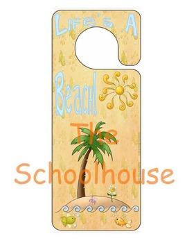 Life's A Beach Door Hanger {FREEbie}