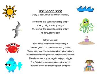 Beach Themed Activities for Preschool and Kindergarten