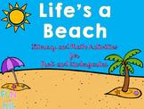 Life's a Beach Pre-K and Kindergarten Math and Literacy Activities