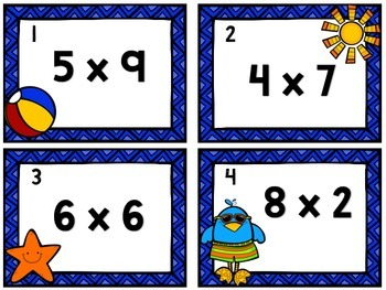 Multiplication Fun Facts Game