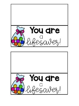 Lifesaver Gift Tags