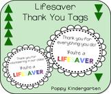 Lifesaver Thank You Tags