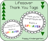 Lifesaver Thank You Tags