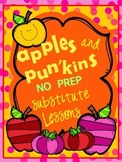 Lifesavers Apples & Pumpkins Substitute Lesson Plans