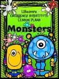 Lifesavers MONSTERS {NO PREP} Substitute Lesson Plans