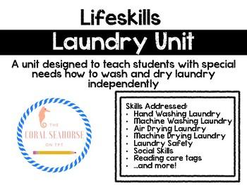 Lifeskills Laundry Unit for Special Education ASD, ID, SLD
