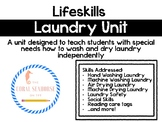 Lifeskills Laundry Unit for Special Education ASD, ID, SLD