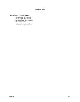 Lifeskills Vocabulary: Driver's License Exam 1