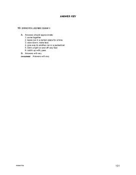 Lifeskills Vocabulary: Driver's License Exam 2