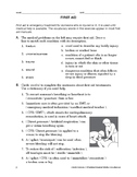 Lifeskills Vocabulary: First Aid