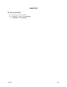 Lifeskills Vocabulary: Job Review Words