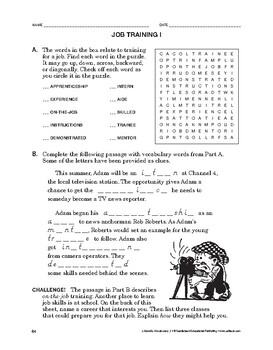 Lifeskills Vocabulary: Job Training 1