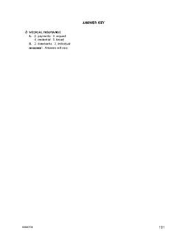Lifeskills Vocabulary: Medical Insurance
