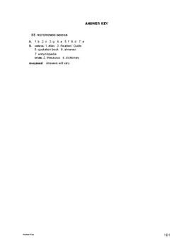 Lifeskills Vocabulary: Reference Books