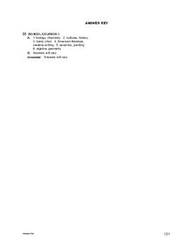 Lifeskills Vocabulary: School Courses 2