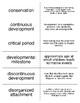 Lifespan Development Flash Cards For Psychology