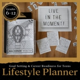 Back to School Lifestyle Planner & Journal for STUDENTS: Goal Setting