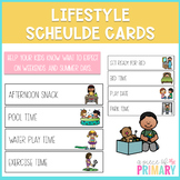 Lifestyle Schedule Cards- Distance Learning Visual Schedule